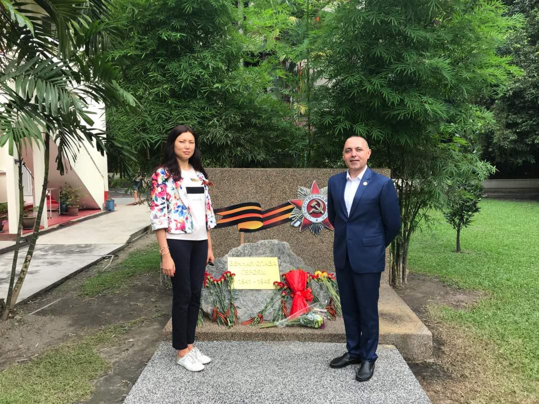 Ингрида ким на празднования дня Победы в русском культурном центре